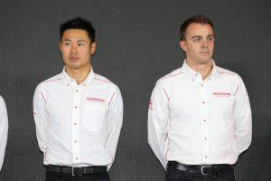 東京オートサロン2019のホンダ体制発表会に出席したKEIHIN REAL RACINGの塚越広大/ベルトラン・バゲット