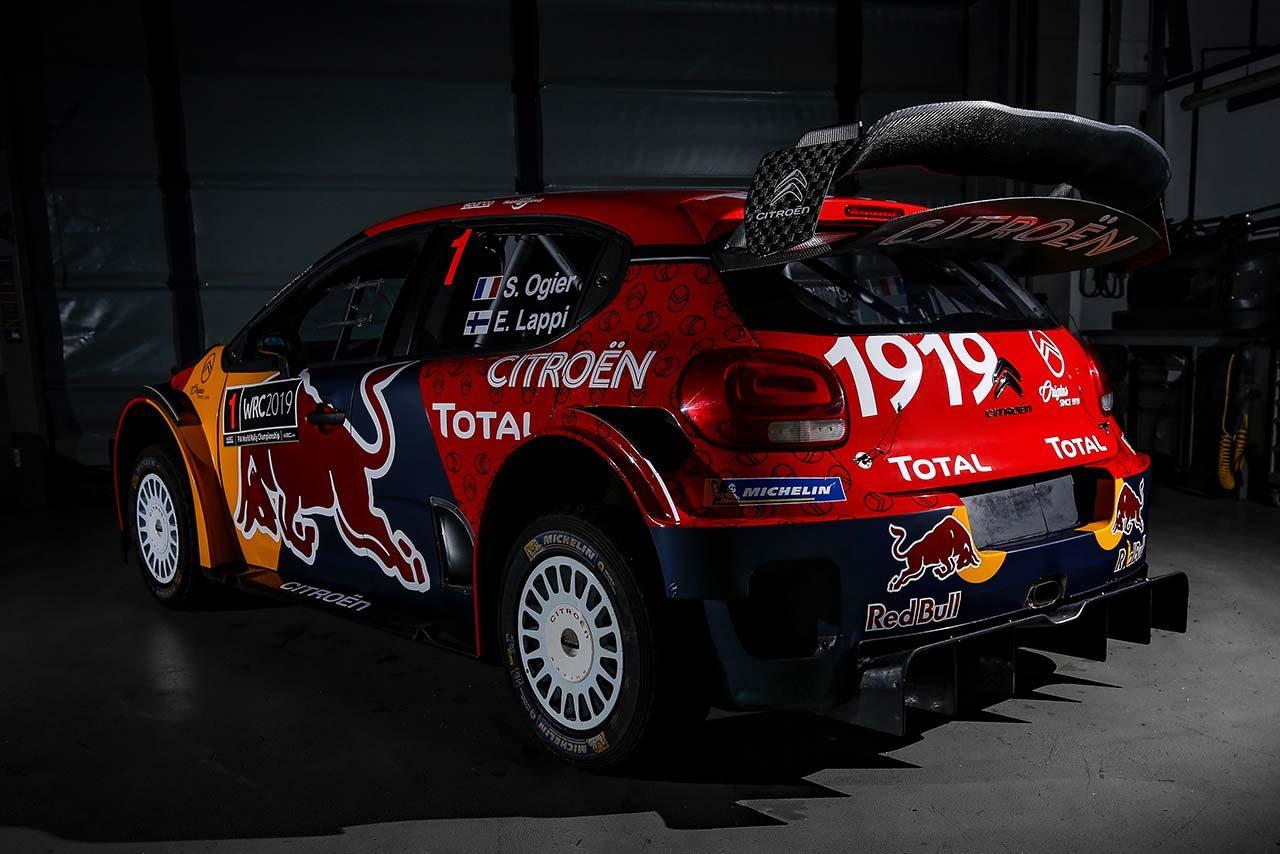 WRC:シトロエン、2019年仕様のC3 WRCを公開。復活したレッドブルロゴが存在感放つ