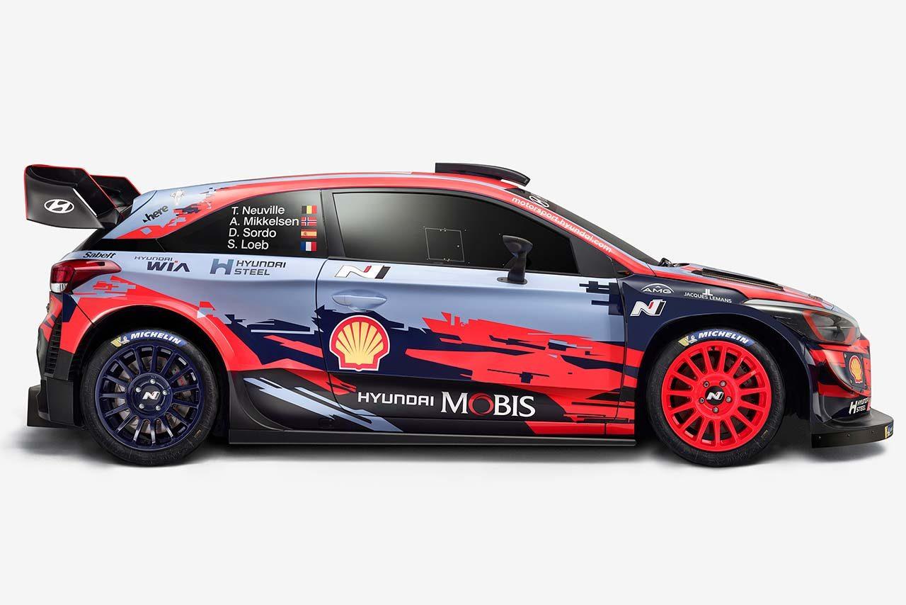 WRC:ヒュンダイが2019年型i20クーペWRCを公開。レジェンドのローブを迎え必勝誓う
