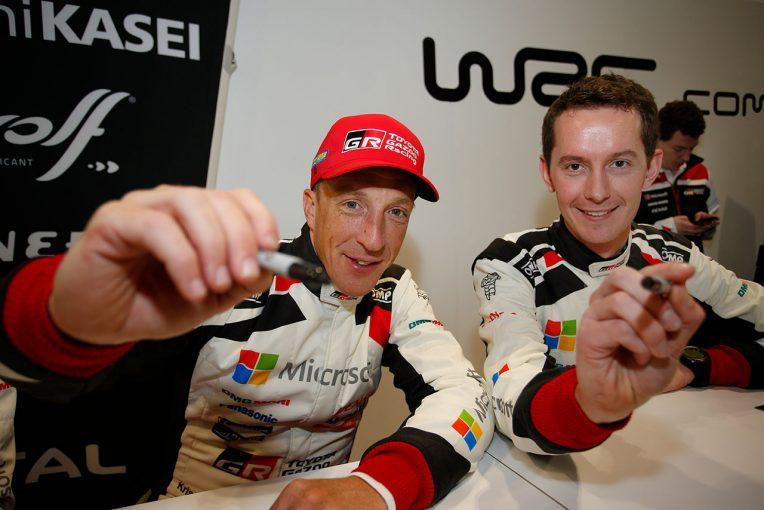 ラリー/WRC | 【動画】2019年新加入のミークがトヨタ・ヤリスWRCをテスト。「プライオリティは楽しむこと」