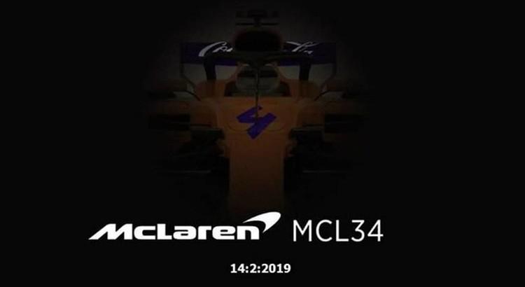 マクラーレンがFacebookのカバー写真として掲載した2019年型マシンMCL34と思われる画像