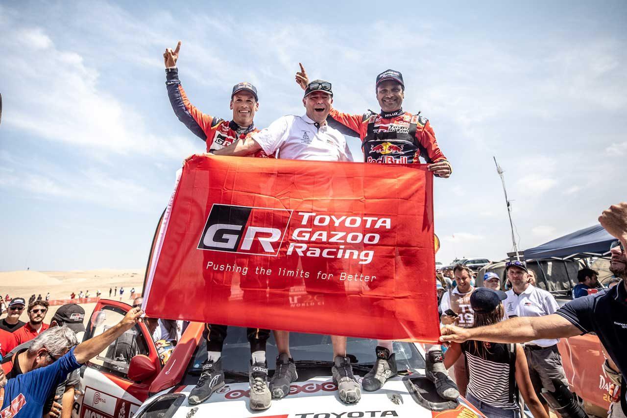 「約束を果たしてくれた」。トヨタのダカール初制覇に豊田章男社長が喜びのコメント