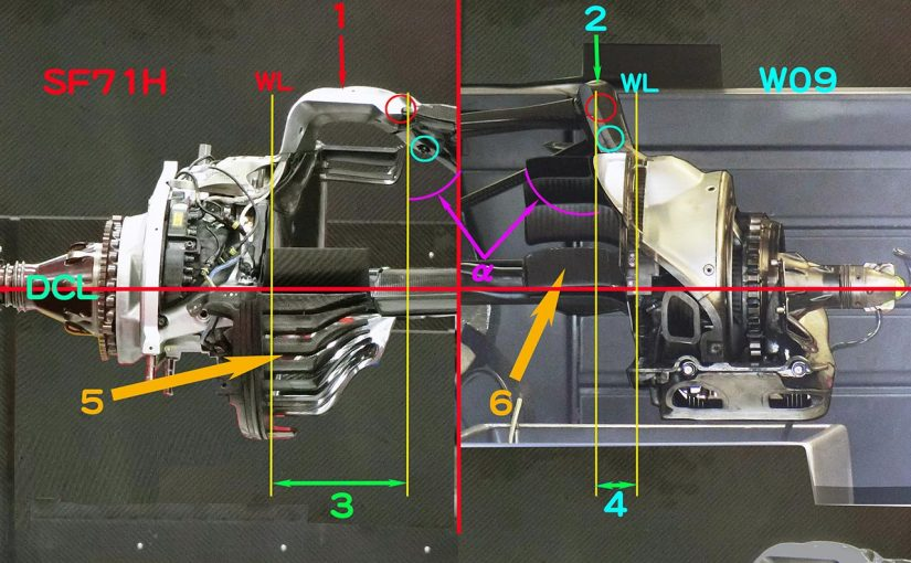 F1 | 【津川哲夫2018年私的ベストメカ3/5】アップライト周辺に見える、メルセデスとフェラーリの車体コンセプトの違い