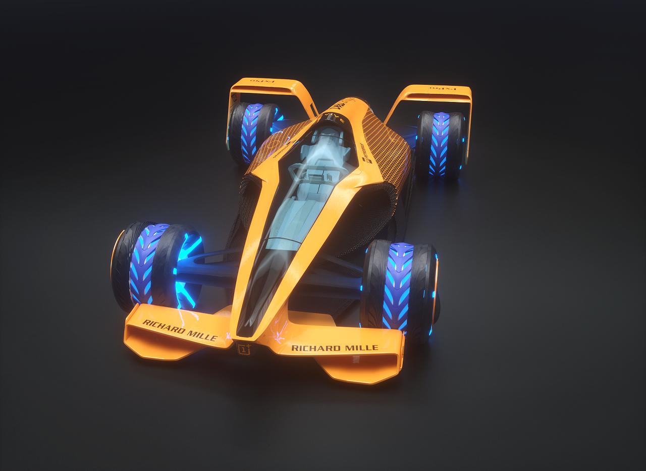 マクラーレンが発表した2050年F1コンセプトカーのイメージ