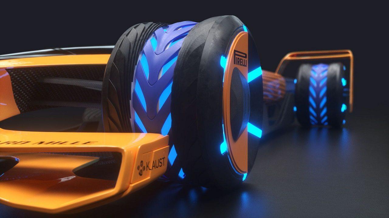 """マクラーレンの2050年F1コンセプトカー""""MCLエクストリーム"""""""