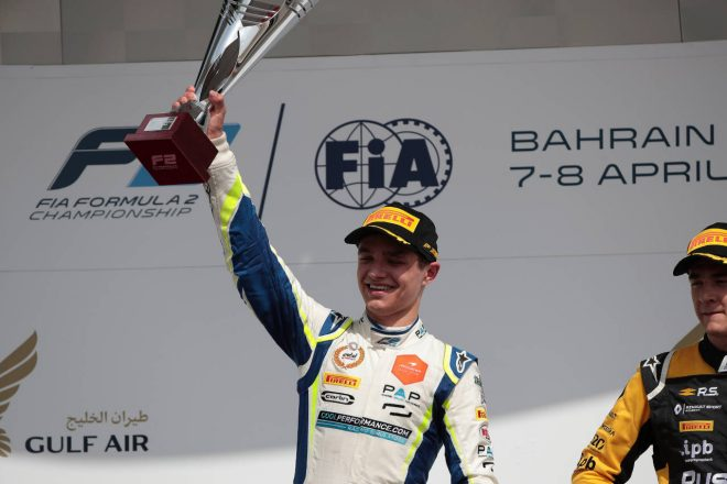 2018年FIA F2開幕戦バーレーン レース1 ランド・ノリス(カーリン)