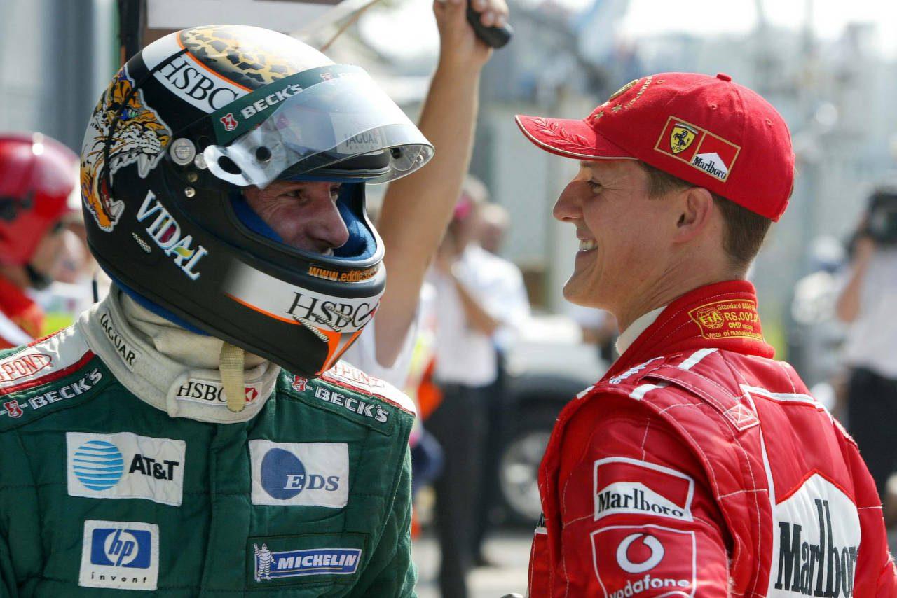 2002年イタリアGP予選 エディ・アーバイン(ジャガー)とミハエル・シューマッハー(フェラーリ)