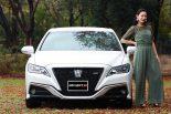 クルマ | 新型トヨタ・クラウンの座り心地にご満悦/aswebナビゲーター森園れんの試乗インプレッション