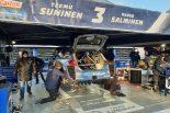 WRC世界ラリー選手権第1戦モンテカルロ ミシュランエリアで展示されていたタイヤ  テーム・スニネン(フォード・フィエスタWRC)