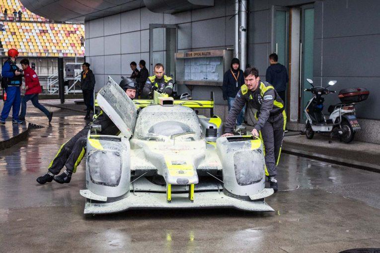 2018/19年WEC第5戦上海でエンジントラブルに見舞われたバイコレス・レーシング・チームの4号車ENSO CLM P1/01・ニスモ