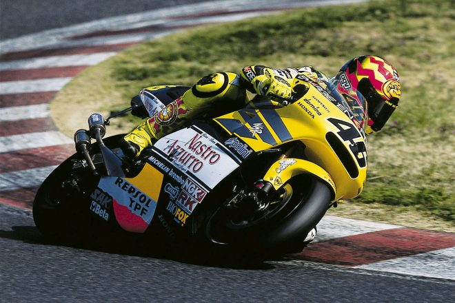 2001年にホンダで初タイトルを獲得したバレンティーノ・ロッシ
