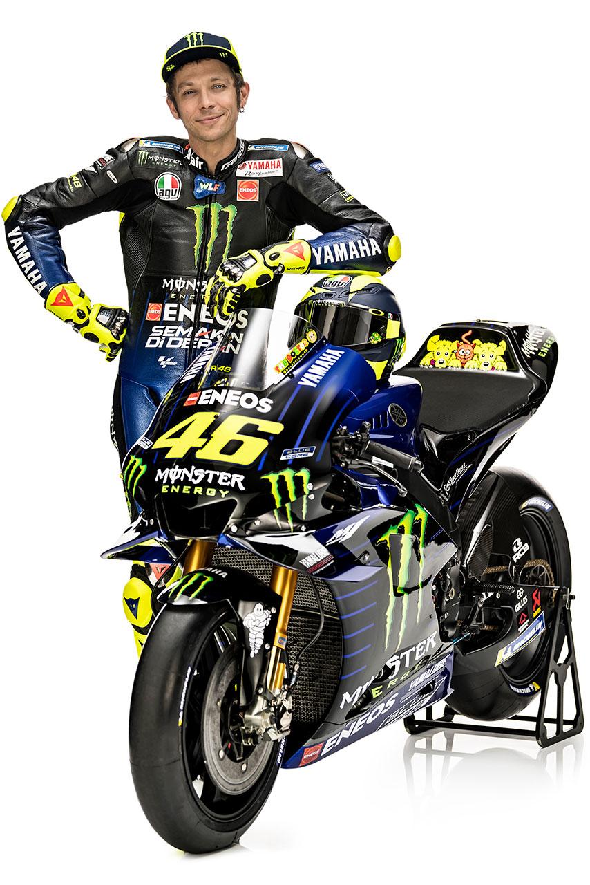 2019年シーズンはモンスターエナジー・ヤマハMotoGPから参戦するバレンティーノ・ロッシ