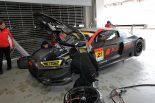 富士で2台のGT300マシンが走行。Audi Team HitotsuyamaのアウディR8 LMSエボがシェイクダウン
