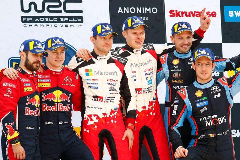"""ラリー/WRC   WRC:第2戦の勝利に豊田章男チーム総代表がコメント。元トヨタ、ラッピの活躍に「""""少し""""嬉しさも」"""