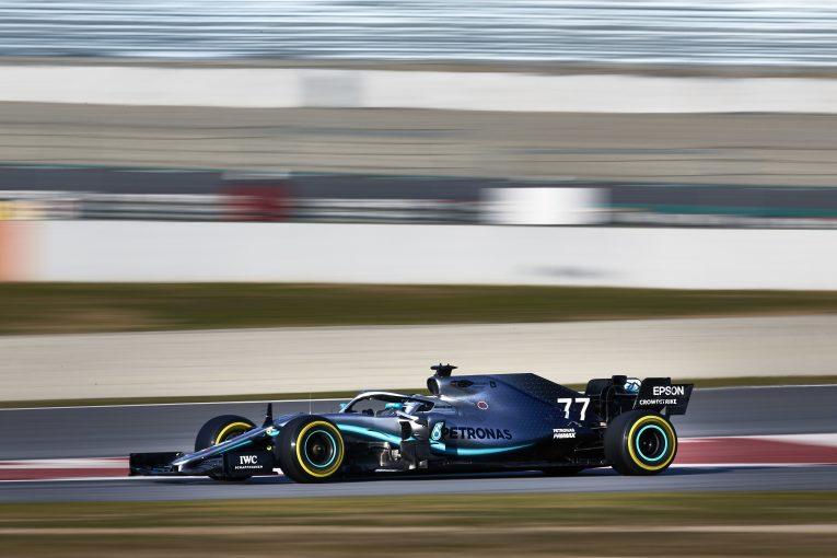 F1 | メルセデスF1、プレシーズンテスト2日目も順調。空力やセッティングのプログラムを重視