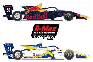 50号車がアウアー車、51号車がニューウェイ車と、2台のカラーリングが決まったB-Max Racing with Motopark