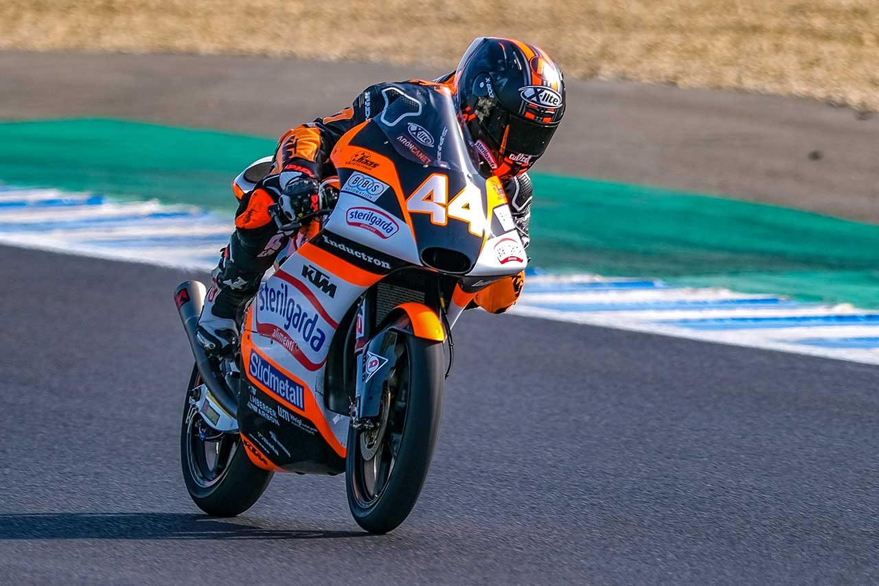 Moto2、Moto3へレス公式テスト2日目はマルケス弟が最速。Moto3では佐々木歩夢が8番手タイム