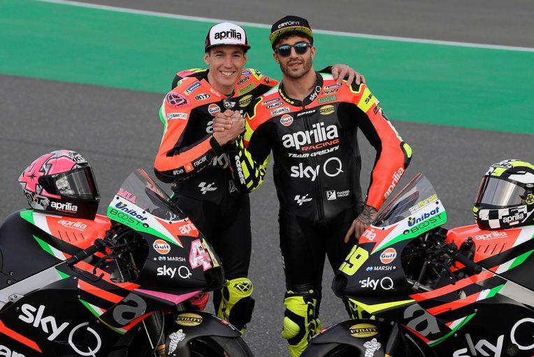 MotoGP | MotoGP:アプリリアRS-GPが伝統のブラックカラーに。カタールで2019年型マシンをお披露目