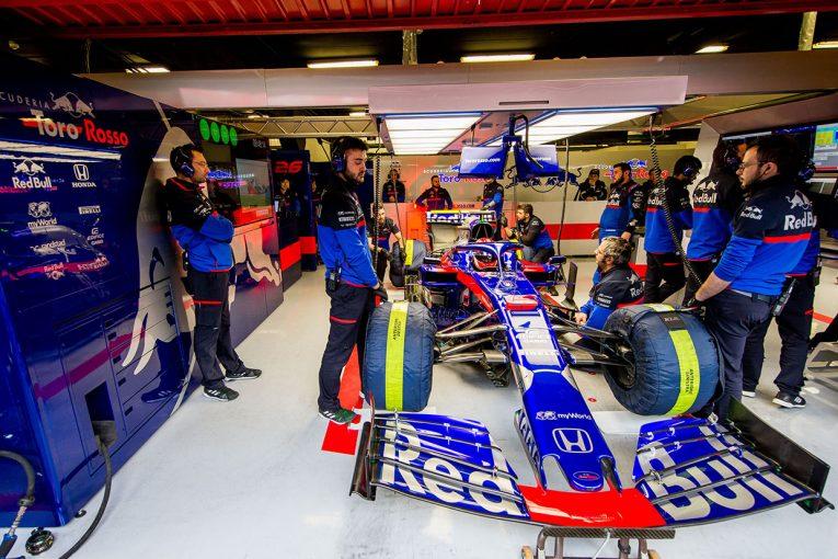 F1 | F1チームに休息なし。トロロッソ・ホンダも2回目のテストに向けて膨大な作業を継続