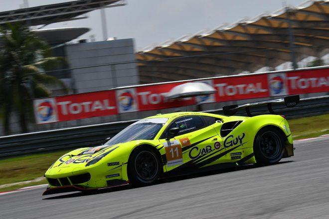 アジアン・ル・マン第4戦セパン GTクラスで優勝を飾り、ル・マン24時間出場権を獲得したCarGuy Racingの木村武史/ケイ・コッツォリーノ/ジェームス・カラド組フェラーリ