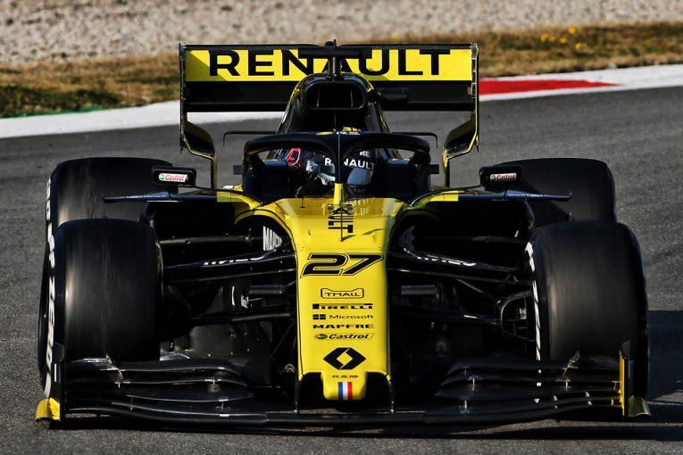 F1   「2019年型F1マシンはパラシュートがついているよう」。ヒュルケンベルグが新ウイングの影響を語る