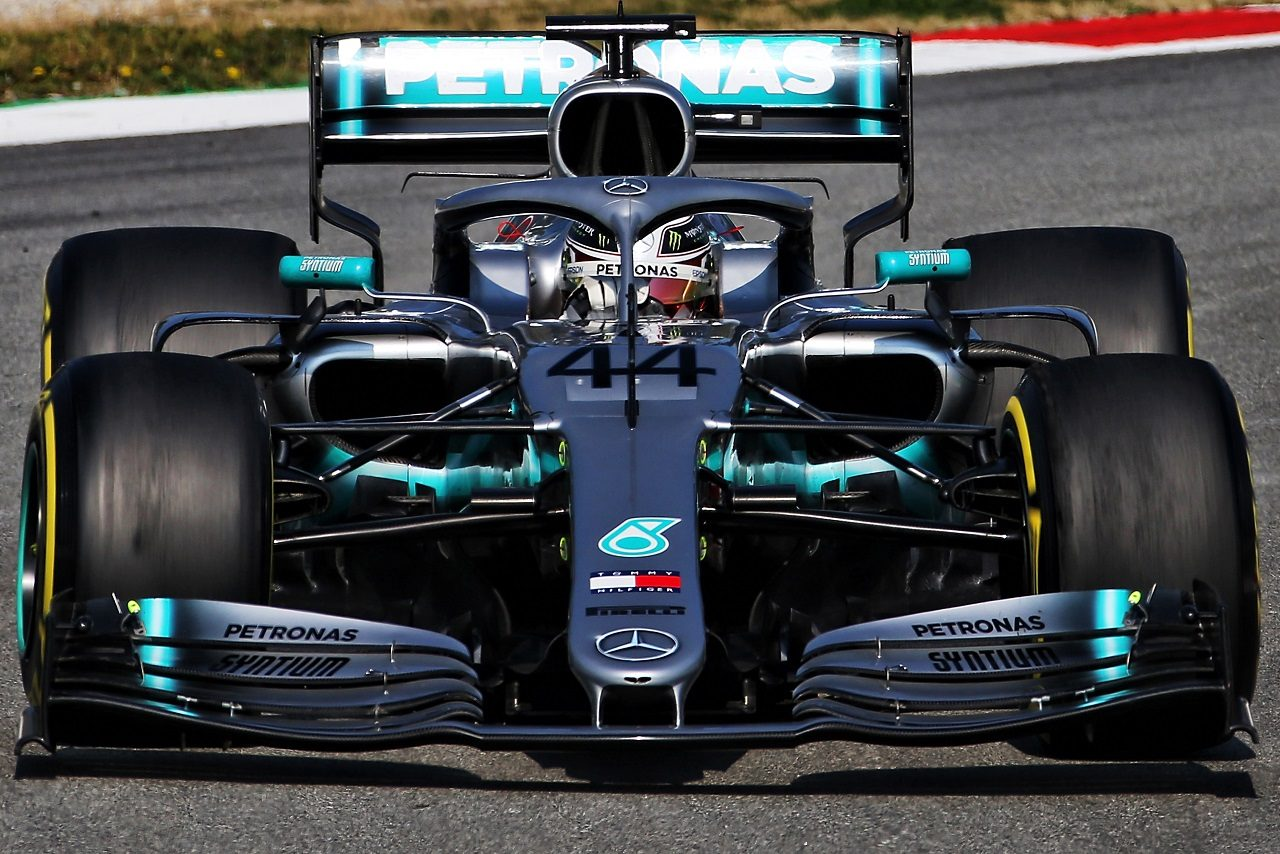 2019年第1回F1テスト ルイス・ハミルトン(メルセデス)