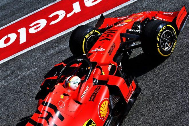 2019年第2回F1テスト1日目 セバスチャン・ベッテル(フェラーリ)