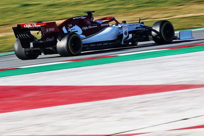 2019年F1バルセロナテスト2回目 キミ・ライコネン アルファロメオC38