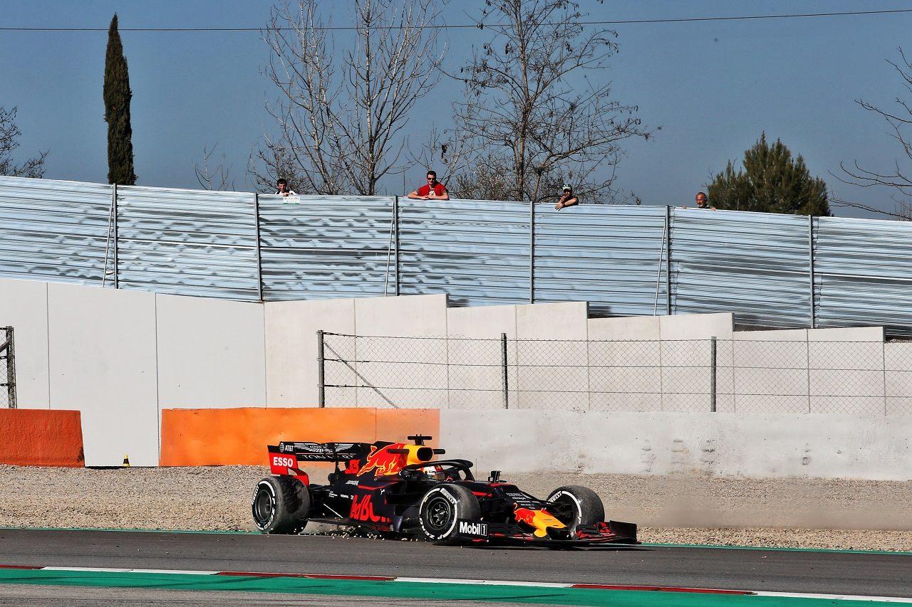 2019年第2回F1テスト2日目 マックス・フェルスタッペン(レッドブル・ホンダ)がコースオフ