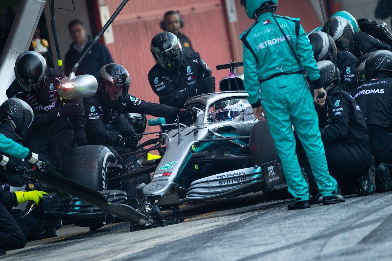 2019年第2回F1テスト2日目 バルテリ・ボッタス(メルセデス)が新パッケージをテスト
