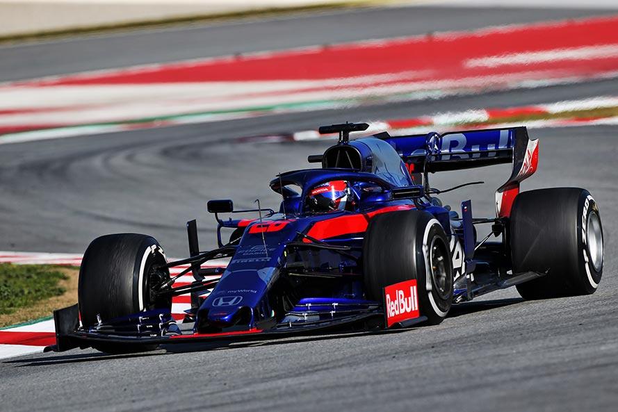 2019年F1バルセロナテスト2回目 ダニール・クビアト トロロッソ・ホンダSTR14