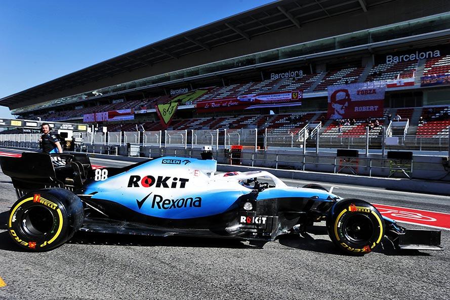 2019年F1バルセロナテスト2回目 ロバート・クビサ ウイリアムズFW42