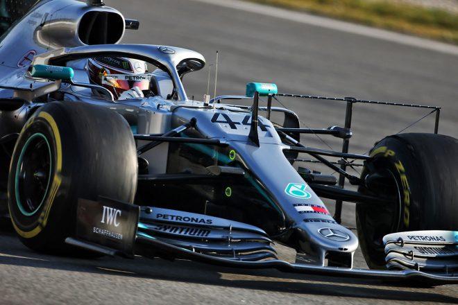 2019年F1バルセロナテスト2回目 ルイス・ハミルトン メルセデスW10