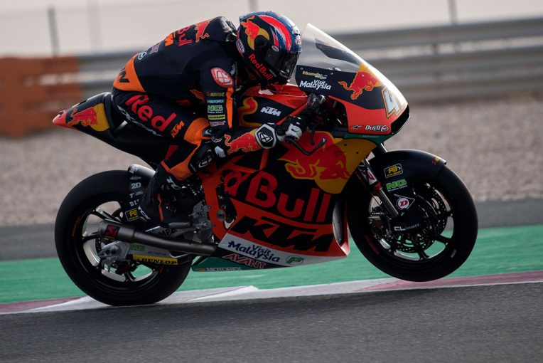 MotoGP | Moto2、Moto3カタール公式テスト、Moto2はKTMのビンダーが初日総合トップ。Moto3参戦の鳥羽が5番手