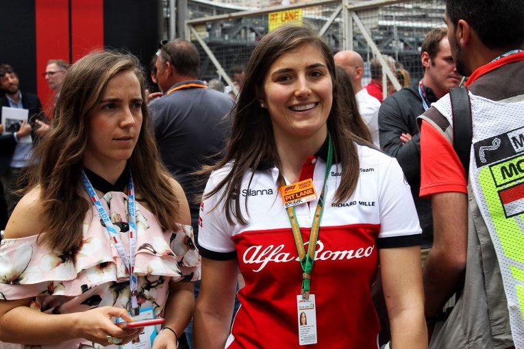 F1   アルファロメオ、タチアナ・カルデロンのF1テストドライバー継続起用を発表