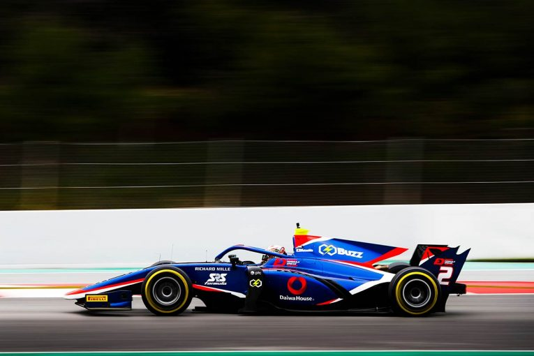 海外レース他 | 【FIA-F2バルセロナテスト1日目タイム結果】松下信治が午前のセッションで7番手を記録