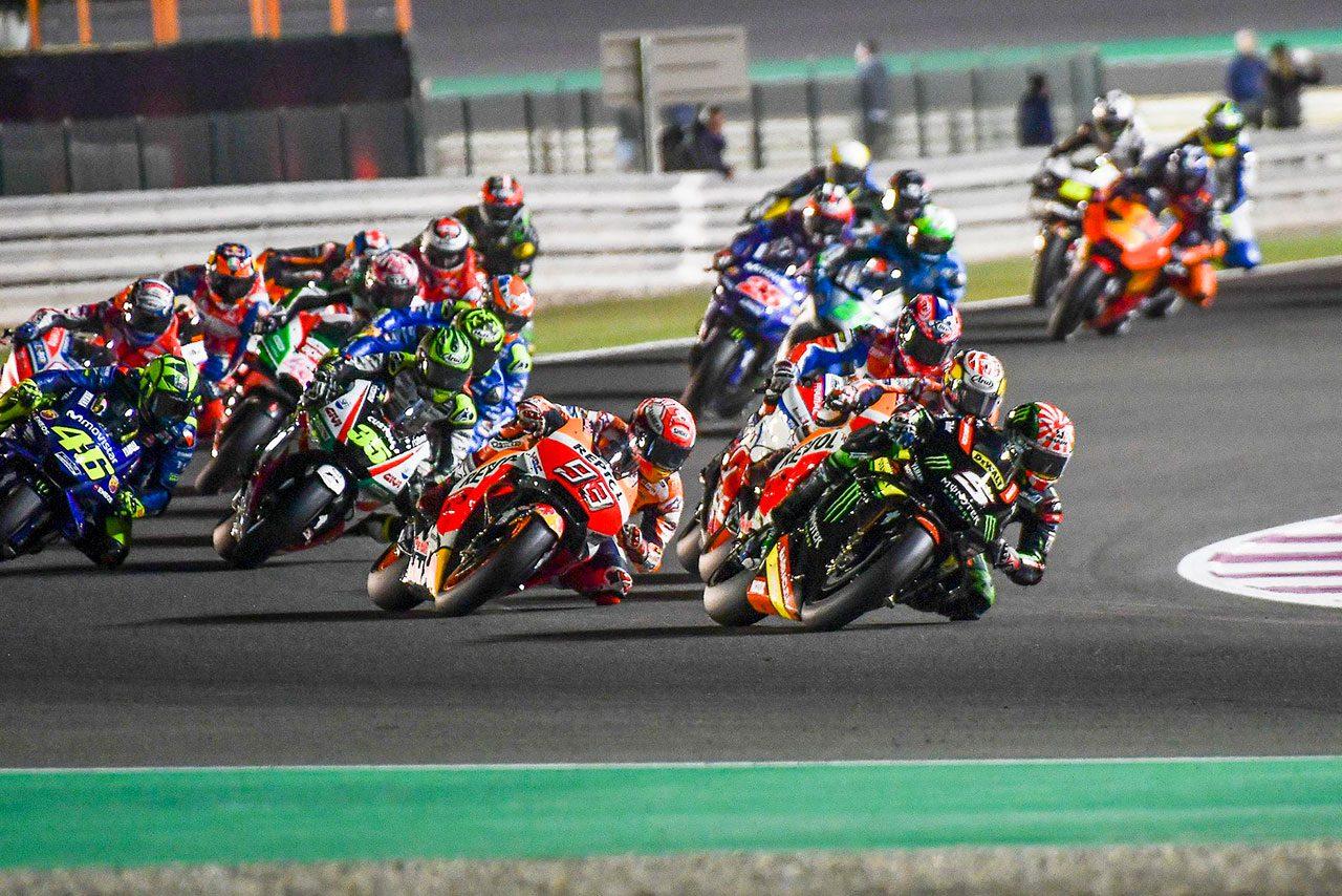 2018年MotoGP第1戦カタールGP スタートシーン