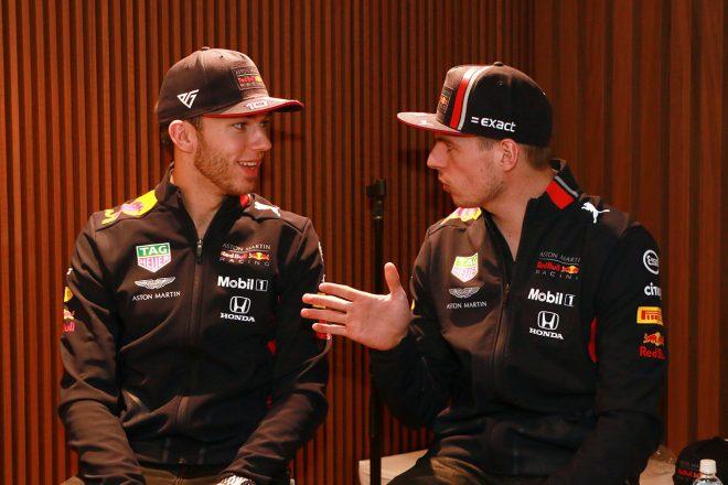 ピエール・ガスリー(左)、マックス・フェルスタッペン(右)