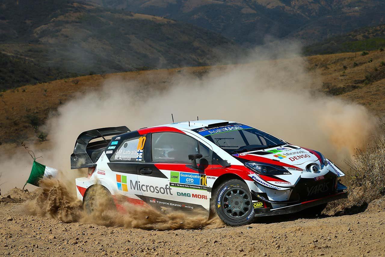 WRCメキシコ:競技2日目、オジエが総合首位。トヨタは3〜4番手もラトバラに不運