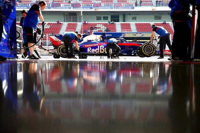 F1合同テストで大きなトラブルもなく積極的な走行を重ねたトロロッソ・ホンダ