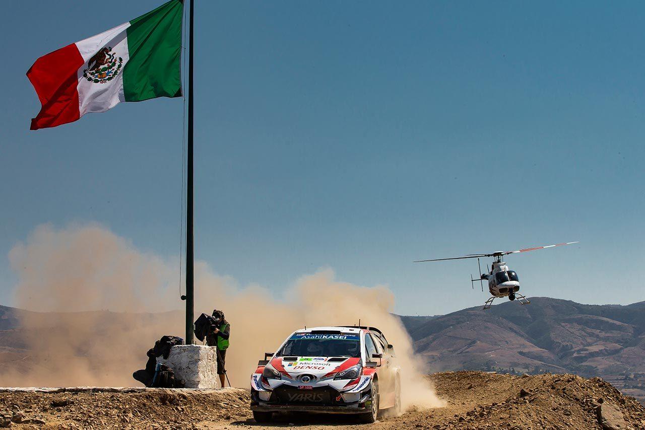 WRC:トヨタ、メキシコ3日目でタナクが表彰台圏内に。「ヤリス全車が速さと信頼性を発揮」