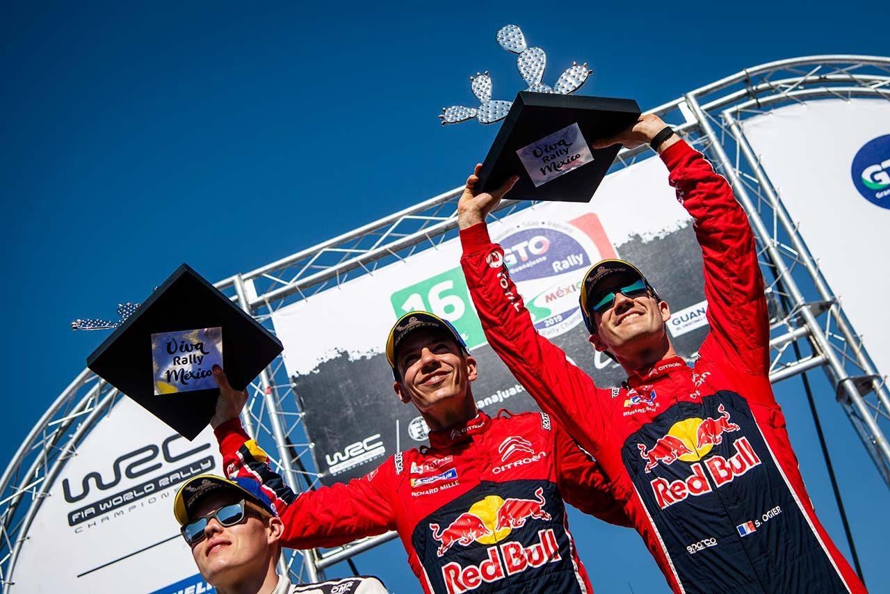 WRCメキシコ:王者オジエが逃げ切り2勝目。トヨタは総合2位でメキシコ初表彰台