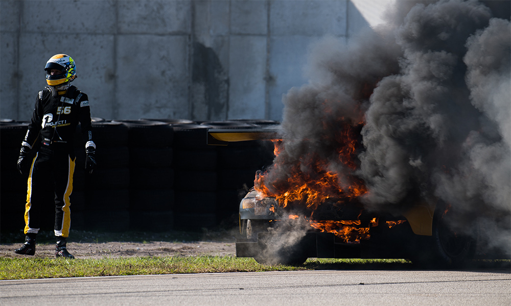 WEC:ポルシェ911がセブリングテストで大炎上。本戦には新シャシー投入へ