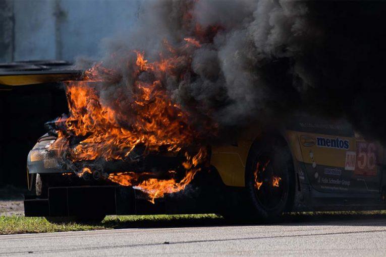 ル・マン/WEC | WEC:ポルシェ911がセブリングテストで大炎上。本戦には新シャシー投入へ