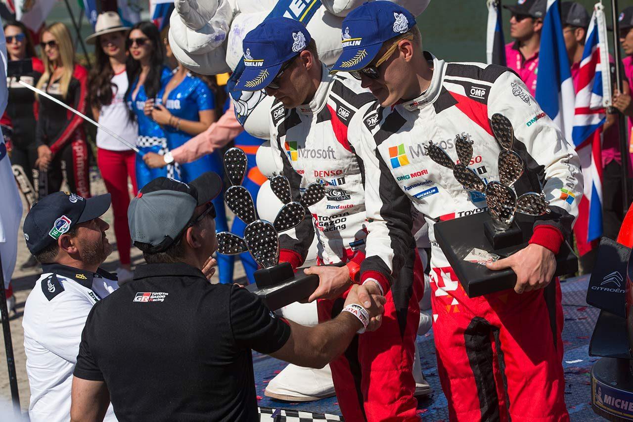 総合2位につけたトヨタのタナク「いい週末。僕たちの強さを示すことができた」/WRC第3戦メキシコ デイ4後コメント