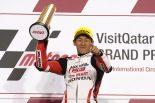 日本人初のMoto3クラス優勝を果たした鳥羽海渡(ホンダ・チーム・アジア)
