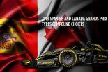 F1   F1スペインGP&カナダGPのタイヤコンパウンド3種が決定