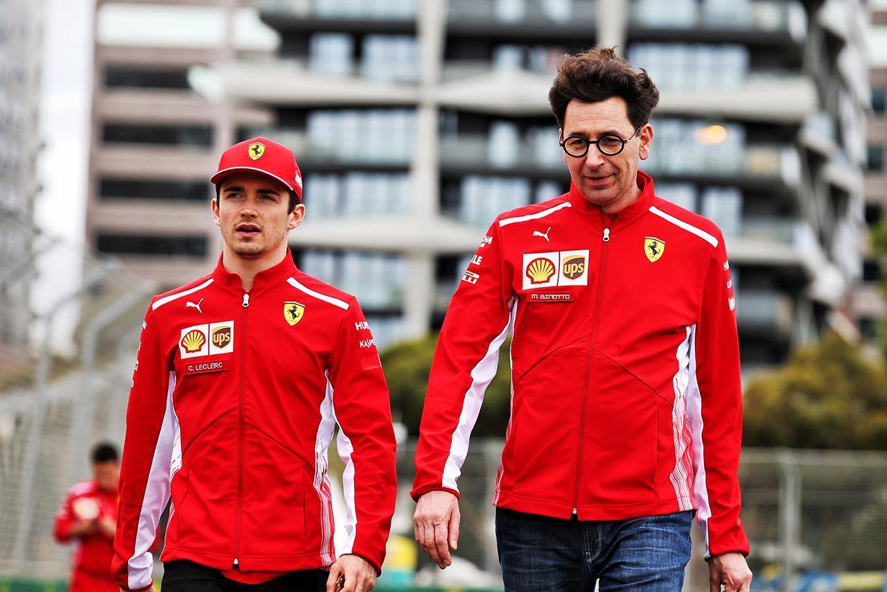 2019年F1開幕戦オーストラリアGP シャルル・ルクレール、マッティア・ビノット