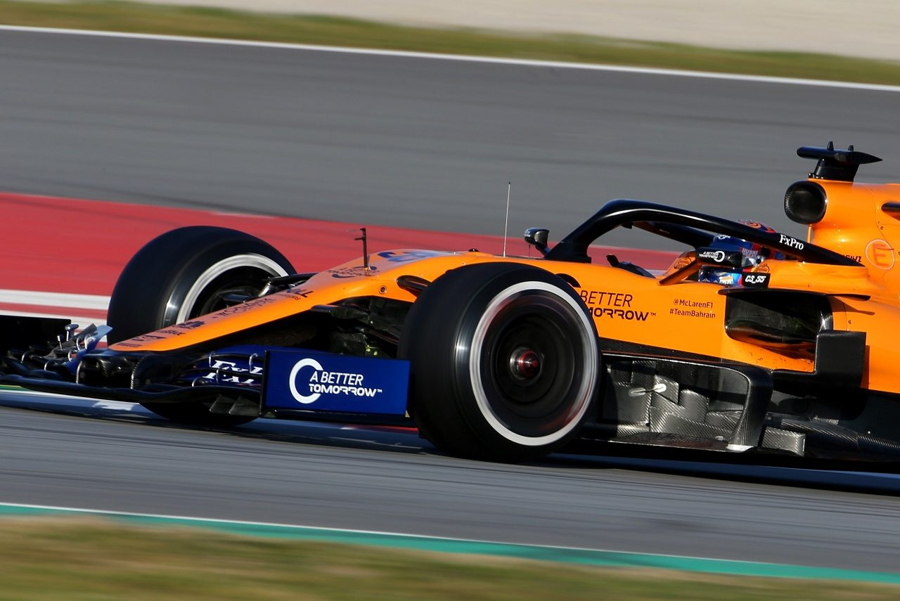 2019年F1プレシーズンテスト マクラーレンMCL34に飾られた「A BETTER TOMORROW」のロゴ