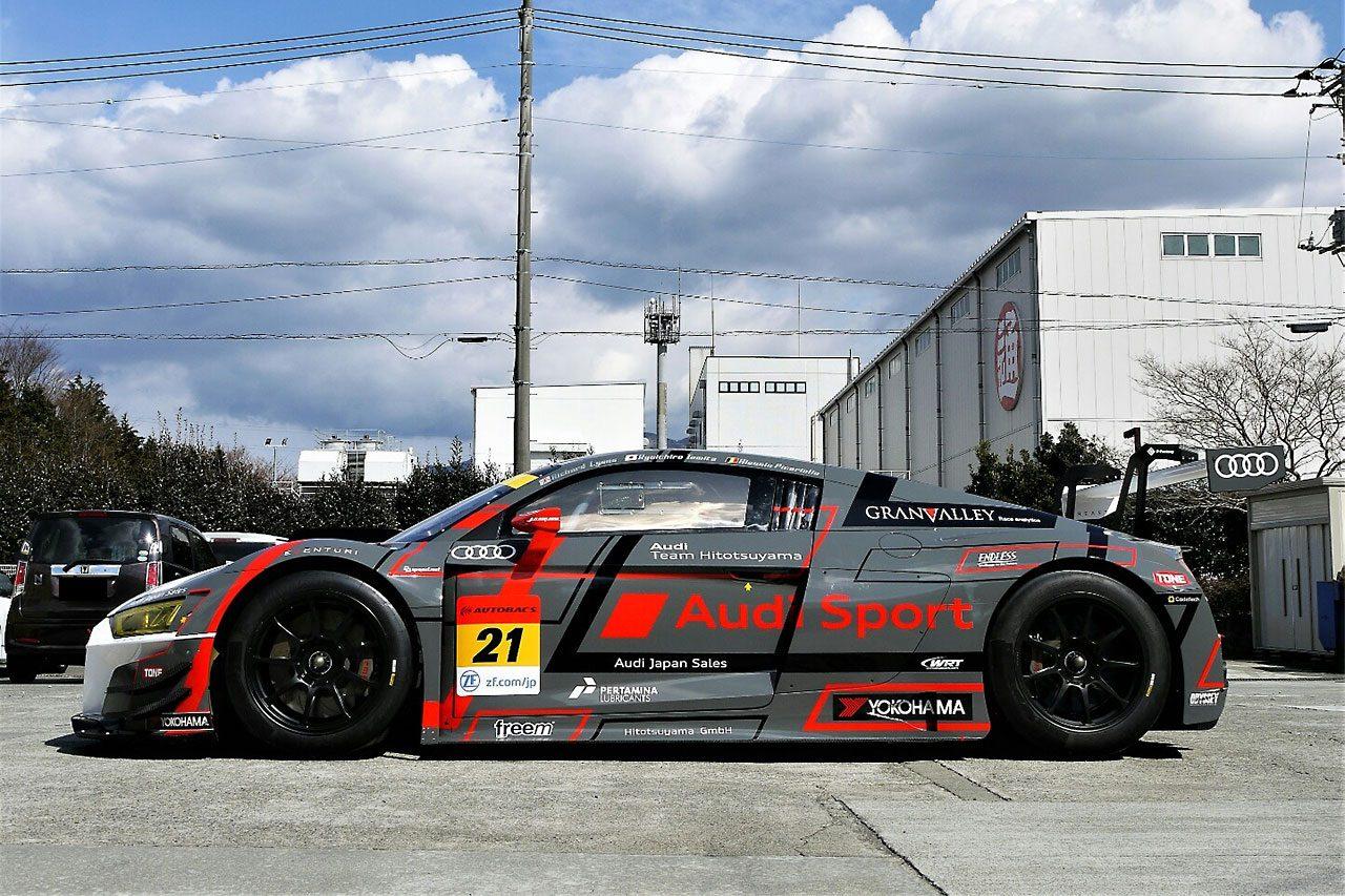 """スーパーGT:Audi Team Hitotsuyamaの2019年カラーリングは""""非対称""""。ランバスをデザイン"""